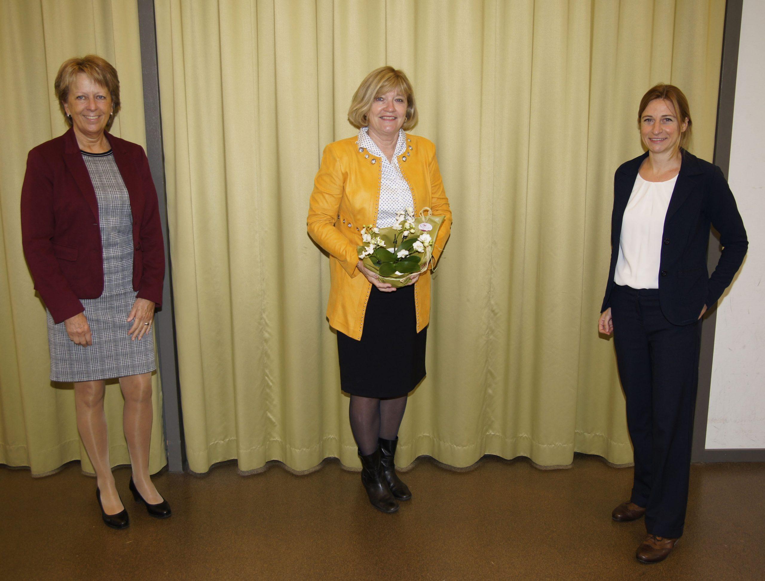 Marlis Dürst (Vizepräsidentin), Präsidentin Edith Zuber und Christina Doll (Geschäftsführerin)
